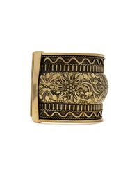 Forever 21 - Metallic Etched Floral Cuff - Lyst