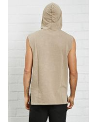 Forever 21 - Multicolor Distressed Raw-cut Hoodie for Men - Lyst