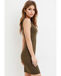 Forever 21 - Green Striped Sheath Dress - Lyst