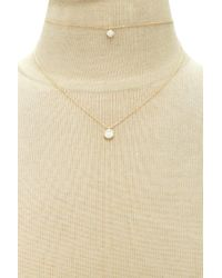 Forever 21 - Metallic Layered Faux Gem Necklace - Lyst