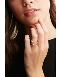 Forever 21 - Metallic Cc Skye Stacked Faux Pearl And Rhinestone Ring - Lyst