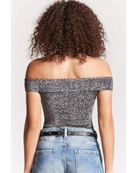 Forever 21 - Multicolor Metallic Off-the-shoulder Bodysuit - Lyst