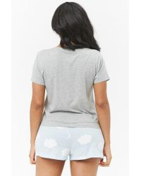 Forever 21 Gray Cloud 09 Graphic Pj Set