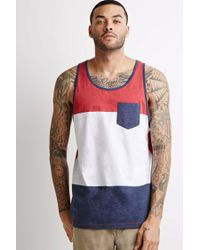 Forever 21 | Red Colorblock Pocket Tank for Men | Lyst