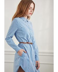 Forever 21 - Blue Gingham Plaid Shirt Dress You've Been Added To The Waitlist - Lyst