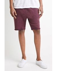 Forever 21 | Purple Frayed Drawstring Sweatshorts for Men | Lyst