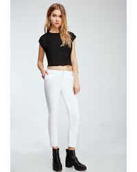 Forever 21 | White Classic Woven Pants | Lyst