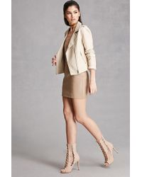 Forever 21 - Natural Faux Leather Caged Stilettos - Lyst