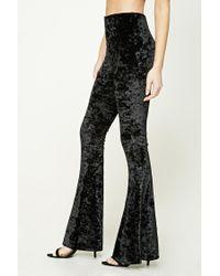 Forever 21 Black Crushed Velvet Pants