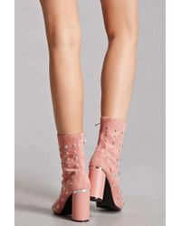 Forever 21 | Multicolor Studded Faux Suede Boots | Lyst
