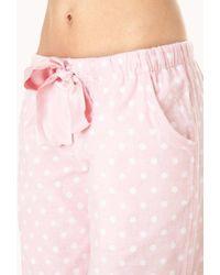 Forever 21 - Pink Sweet Polka Dot Pj Pants - Lyst