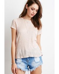 Forever 21 - Pink Crochet-paneled Top - Lyst