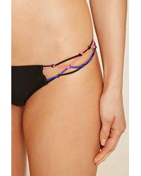 Forever 21 | Black Macrame Bikini Bottoms | Lyst