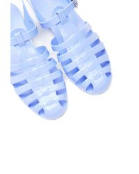 Forever 21 - Blue Caged Jelly Sandals - Lyst