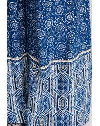 Forever 21 - Blue Floral Print Wide-leg Pants - Lyst