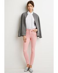 Forever 21 | Pink Mid-rise Skinny Jeans You've Been Added To The Waitlist | Lyst