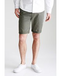 Forever 21 | Green Polka Dot Chino Shorts for Men | Lyst