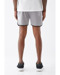 Forever 21 - Gray Satin-trimmed Gym Shorts for Men - Lyst