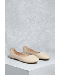 Forever 21 | Multicolor Mia Scalloped Ballet Flats | Lyst