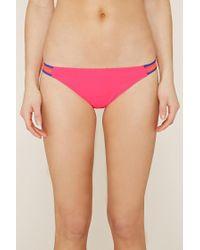 Forever 21 - Pink Macramé-side Bikini Bottoms - Lyst