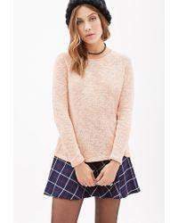 Forever 21 | Pink Textured Raglan Sweater | Lyst