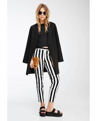 Forever 21   Black Awning Striped Straight-leg Trousers   Lyst