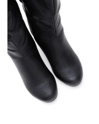 Forever 21 - Black Slouchy Faux Leather Boots - Lyst