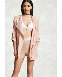 Forever 21 | Pink Hooded Utility Jacket | Lyst