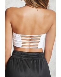 Forever 21 - White Strappy-back Tube Top - Lyst