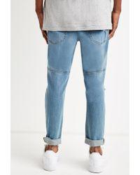 Forever 21 - Blue Paneled Slim Fit Jeans for Men - Lyst