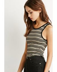 Forever 21 - Multicolor Contrast Striped Crop Top - Lyst