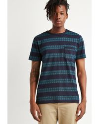 Forever 21 | Blue Geo-striped Pocket Tee for Men | Lyst