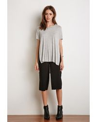 Forever 21 - Gray Side-slit Tee - Lyst