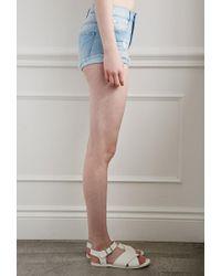Forever 21 | Blue Ripped Denim Shorts | Lyst
