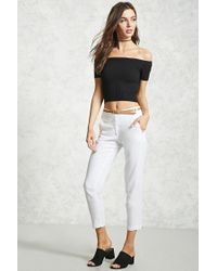 Forever 21 | White Belted Woven Pants | Lyst