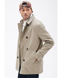 Forever 21 - Natural Double-breasted Trench Coat for Men - Lyst