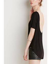 Forever 21 - Black Contemporary Scoop-back Tee - Lyst