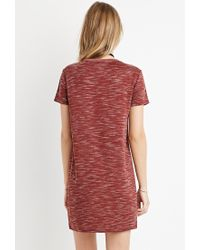 Forever 21 - Brown Space Dye T-shirt Dress - Lyst