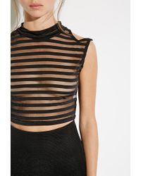 Forever 21 | Black This Is A Love Song Riri Crop Top | Lyst