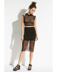 Forever 21 - Black This Is A Love Song Riri Crop Top - Lyst