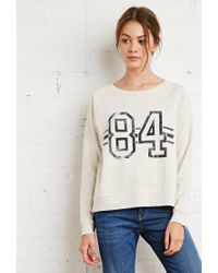 Forever 21 | Natural 84 Heathered Raglan Sweater | Lyst