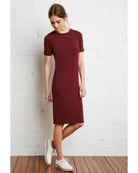 Forever 21 - Purple Boxy T-shirt Dress - Lyst