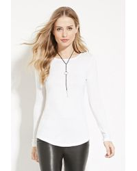 Forever 21 - White Cutout Back Longline Top - Lyst