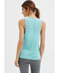 Forever 21 | Blue Shadow Stripe Muscle Tee | Lyst