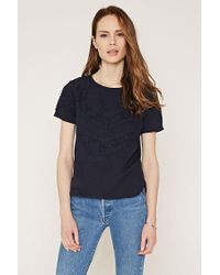 Forever 21 | Blue Lace-paneled Top | Lyst