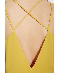 Forever 21 - Yellow Contemporary Flutter Maxi Dress - Lyst