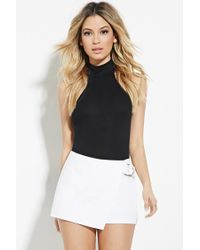 Forever 21 | Natural Asymmetrical D-ring Skort | Lyst