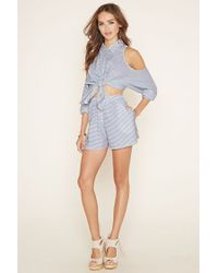 Forever 21 - White The Fifth Label Striped Shorts - Lyst