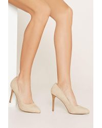 Forever 21 - Pink Faux Suede Pumps - Lyst