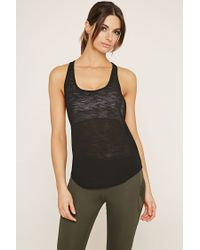 Forever 21 - Black Active Space-dye Tank - Lyst